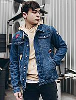 77897988663 Мужская джинсовая куртка (стаф) Staff wist c4 patches PKY0049 в наличии р. М