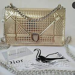 Женская сумка в стиле Dior Diorama Silver Large