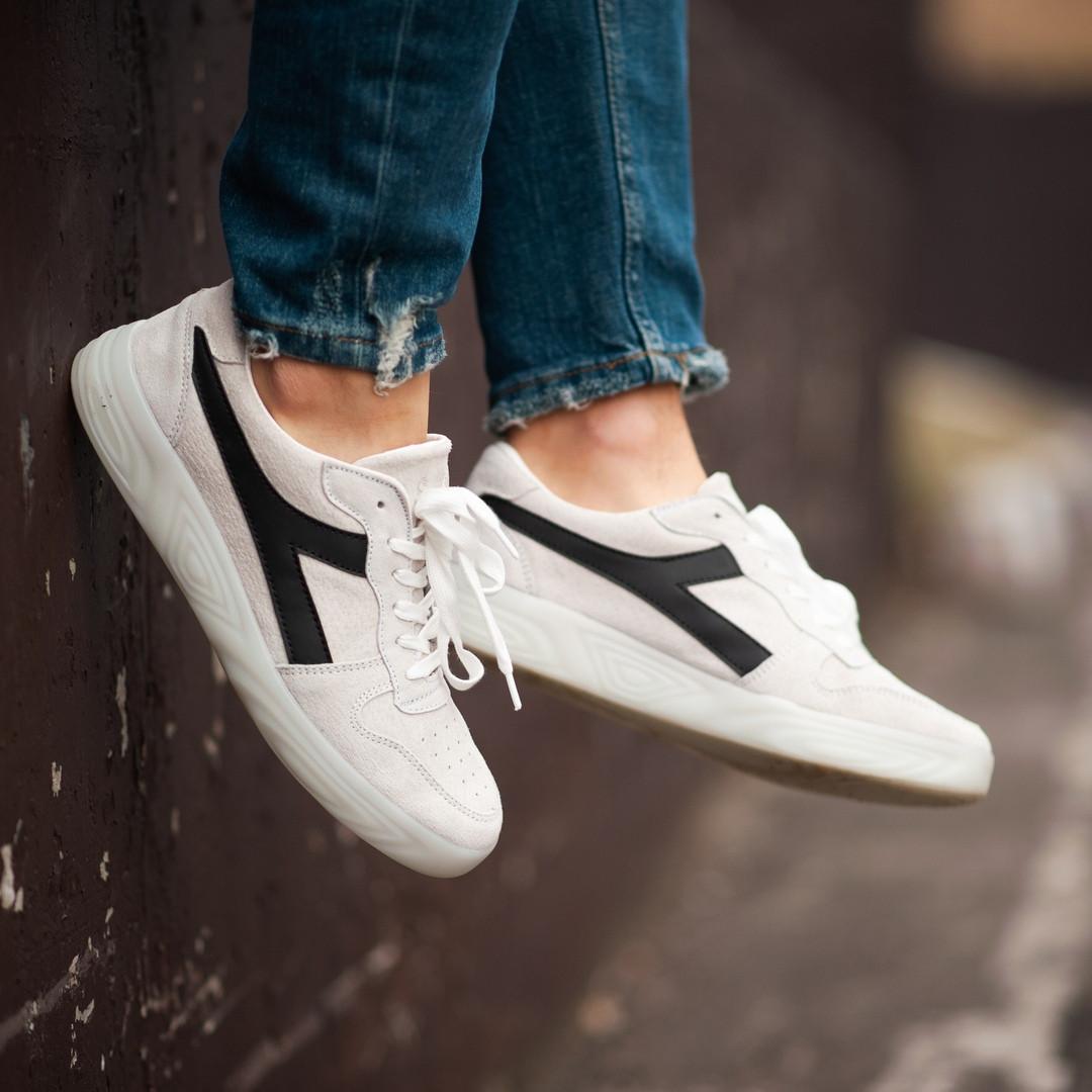 Мужские кроссовки South Casual white. Натуральная замша