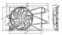 Вентилятор системы охлаждения двигателя NRF 47005 на Ford Mondeo / Форд Мондео