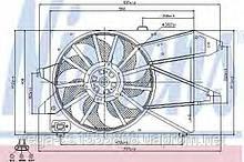 Вентилятор системы охлаждения двигателя Nissens 85482 на Ford Mondeo / Форд Мондео