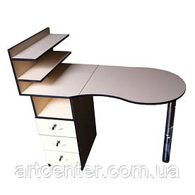 Манікюрний стіл Стандарт, складаний з ящиками і поличками для лаків для салону краси, роботі на будинок