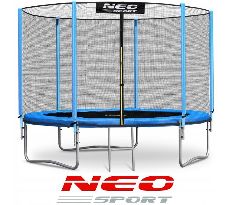 Батут NeoSport 312 см с сеткой и лесенкой