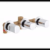 Смеситель для ванны и душа GENEBRE KALO, скрытый монтаж, с переключателем (68116074566)