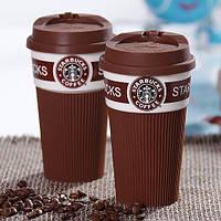 ✅ Термокружка Starbucks Старбакс керамическая, цвет - коричневый, Термокружки, Термокружки
