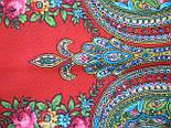 Золушка 1298-3, павлопосадский платок шерстяной  с оверлоком   Стандартный сорт, фото 6