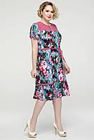 Длинное платьебольших размеровлетнее женское батальное трикотаж масло (батал)