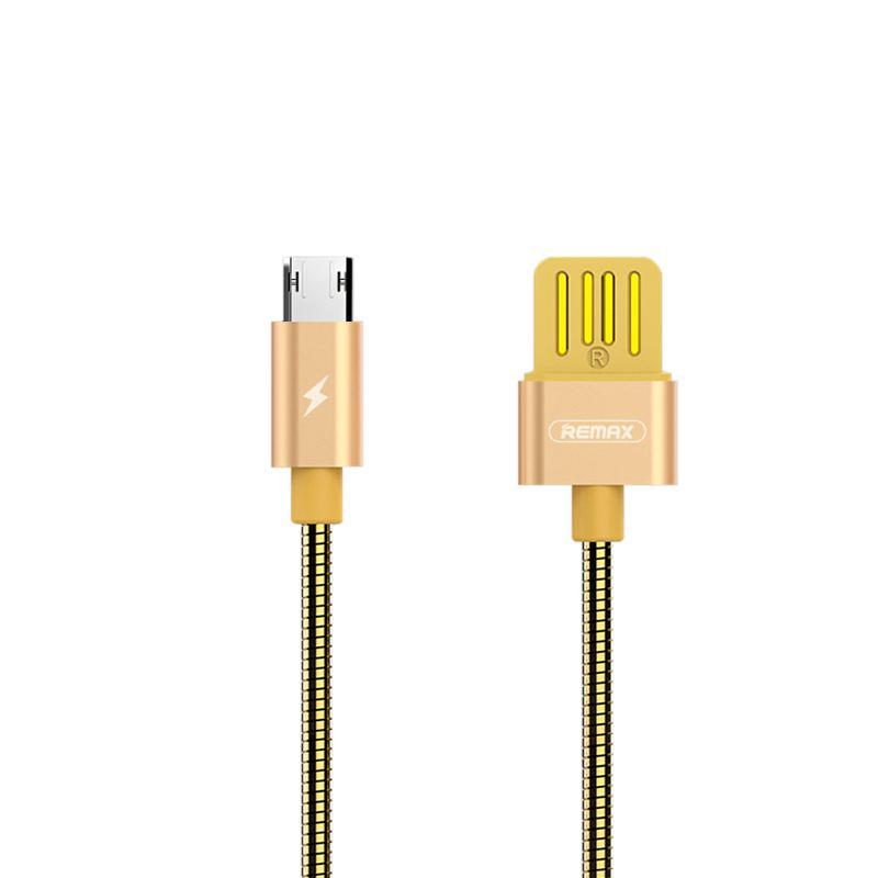 USB кабель Remax Silver Serpent RC-080m MicroUSB Gold 1m