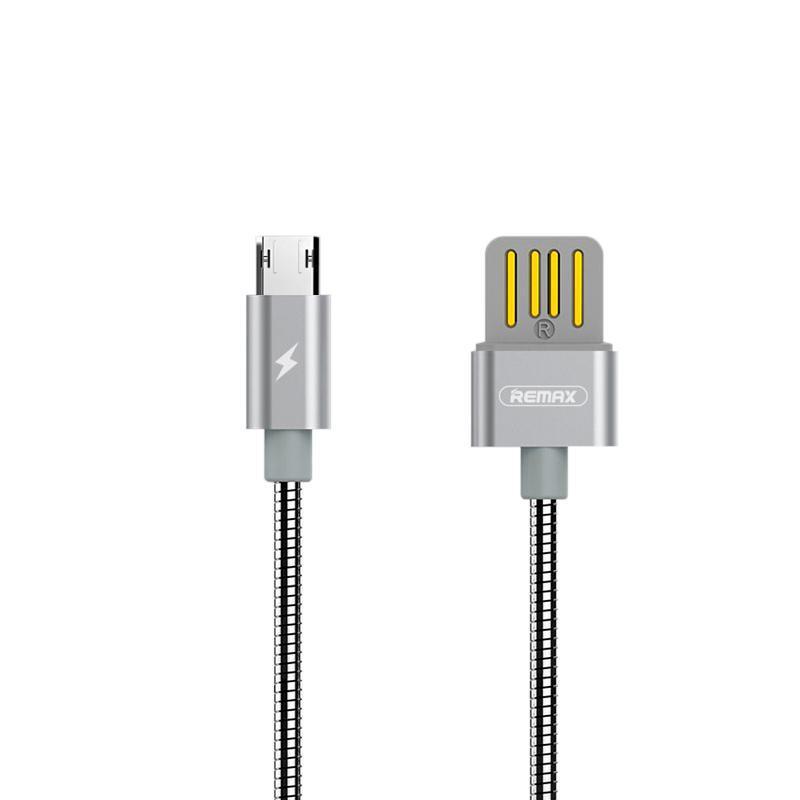 USB кабель Remax Silver Serpent RC-080m MicroUSB Silver 1m