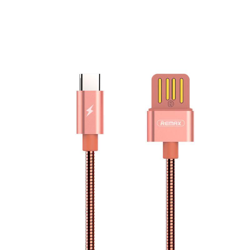 USB кабель Remax Silver Serpent RC-080a Type-C Rose Gold 1m