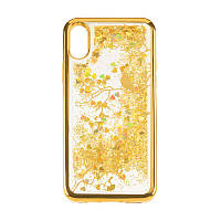 Чехол с жидкостью Beckberg Aqua на iPhone 5 Bird Gold