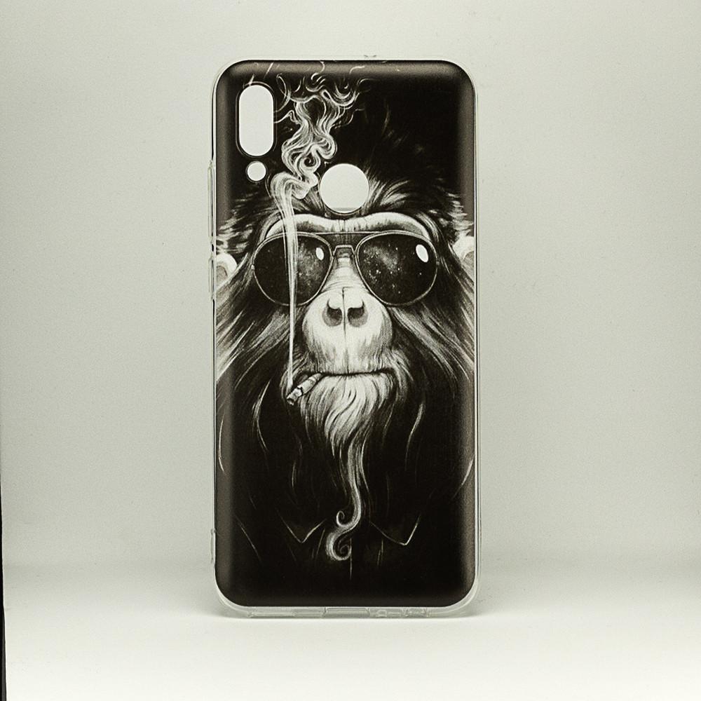 Чехол Print  для Huawei P Smart 2019 / HRY-LX1 силиконовый бампер Monkey