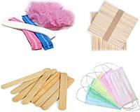 Одноразовая продукция разное (шпатели,маски, спонжи, шапочки)