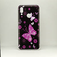 Чехол Print  для Huawei P Smart 2019 / HRY-LX1 силиконовый бампер butterflies pink