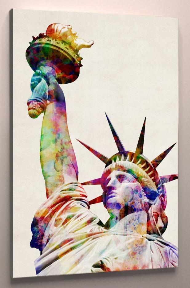 Фотокартина яркая Статуя Свободы 60х40