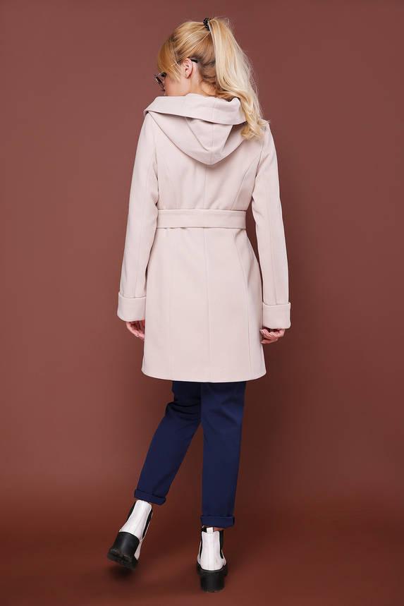 Модное пальто демисезонное шерстяное с капюшоном, фото 2