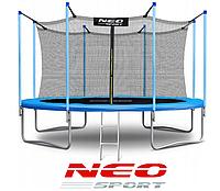 Батут NeoSport 374 см. с внутренней сеткой и лесенкой