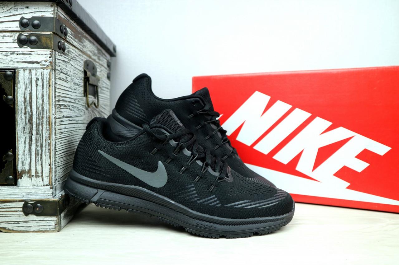 Кроссовки 5072 -4 (Nike Zoom) (весна/осень, мужские, текстиль, черный)
