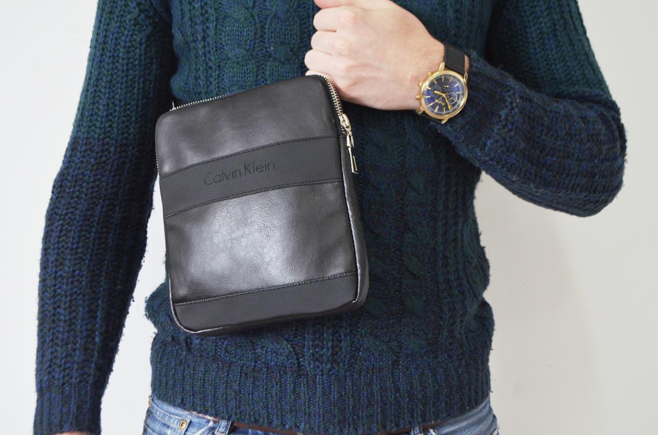 1b8e98555f79 Мужская сумка Calvin Klein (кельвин кляйн) через плечо, без предоплат,  доставка 1