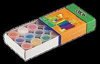 Гуашеві фарби 12 кольорів по 10 мл