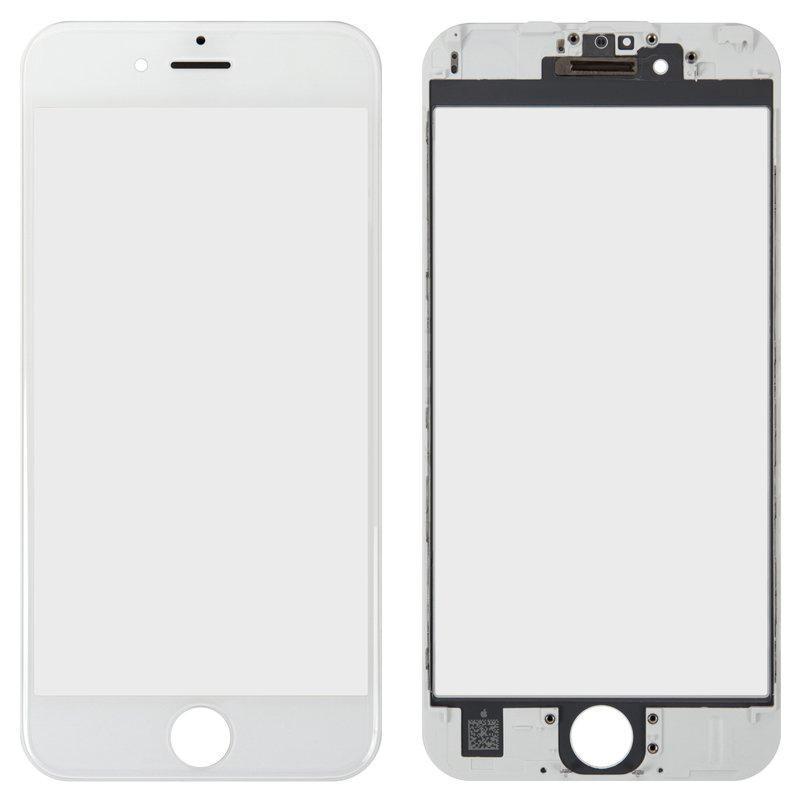 Деталь стекло для переклейки + Рамка + Oca iPhone 6S White