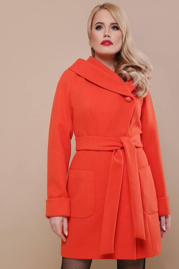 Женское пальто весна-осень шерстяное с капюшоном, фото 2