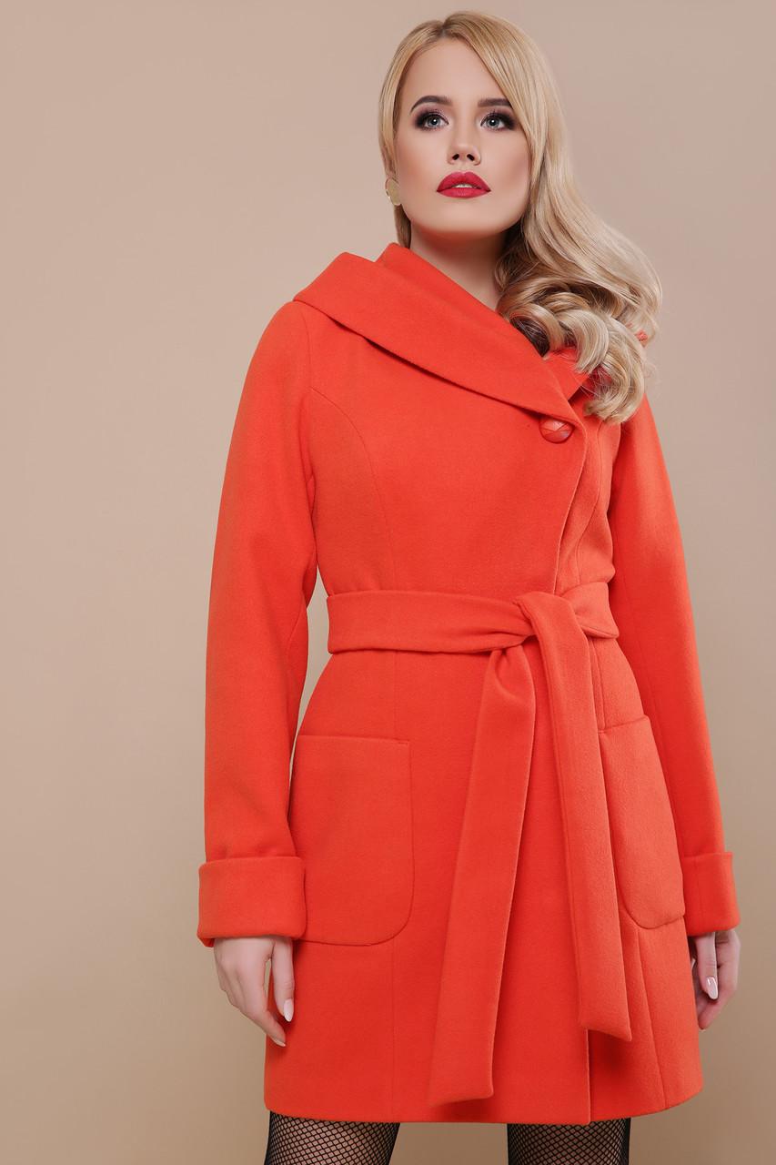 Женское пальто весна-осень шерстяное с капюшоном