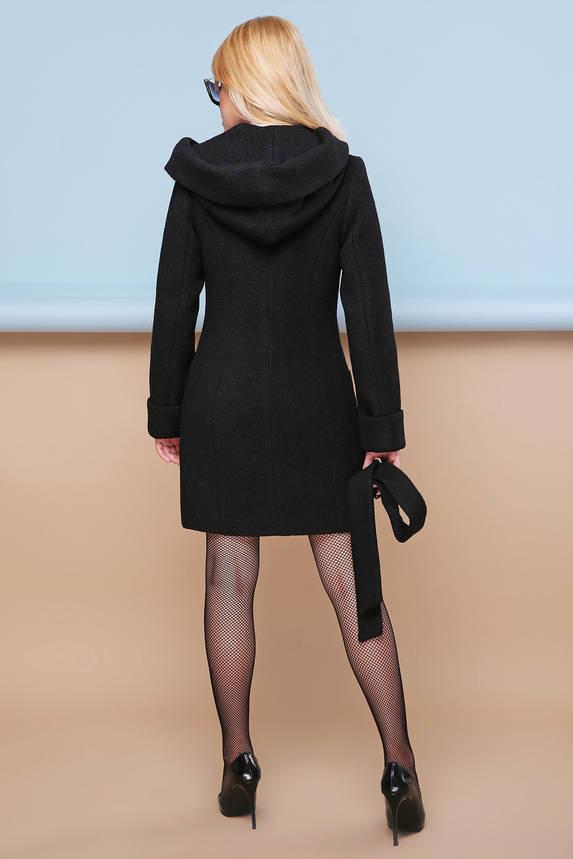 Женское пальто весеннее шерстяное с капюшоном, фото 2