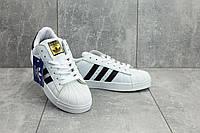 Кроссовки A 529 -1 (Adidas SuperStar) (весна/осень, мужские, искусственная кожа, белый)