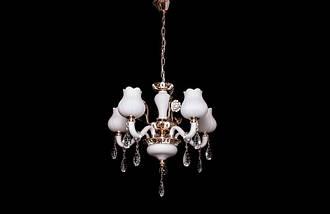 Роскошная стеклянная люстра с хрустальными подвесами2006/5, фото 3
