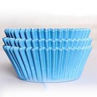 Бумажная форма для кексов, Голубой цвет , 50шт