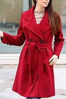 Короткое кашемировое пальто до колен