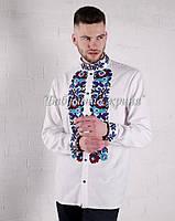 Заготовка чоловічої сорочки для вишивки нитками/бісером БС-147ч, фото 1