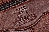 Сумка барсетка мужская кожаная FUZHINIAO (черный), фото 7