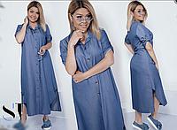Джинсове сукню сорочка, з 48-58 розмір, фото 1