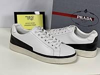 Мужские белые кеды Prada, фото 1