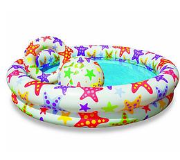 Детский надувной бассейн Звездочки.Мобильные бассейны.Бассейны надувные Интекс.
