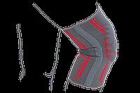 Бандаж на коленный сустав вязанный эластичный усиленный R6104