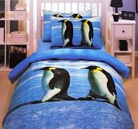 Постельное белье ТАС сатин  Pinguin полуторного размера
