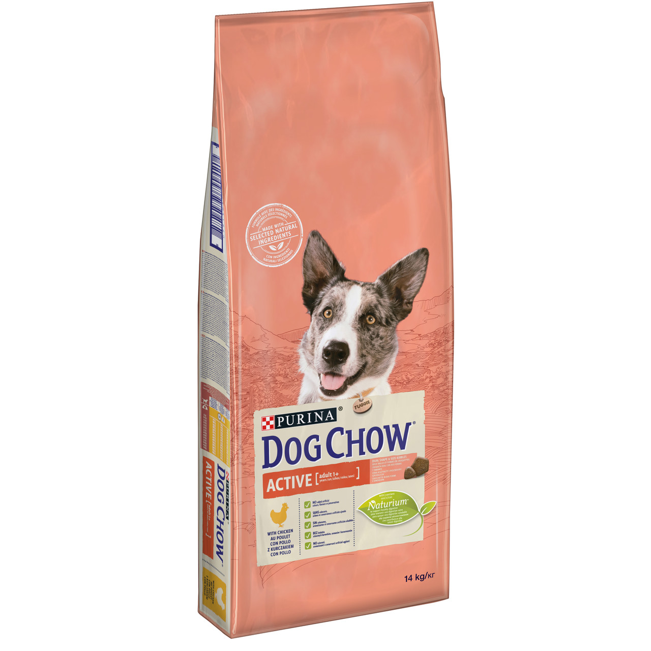 Dog Chow Active 14 кг корм для собак с курицей