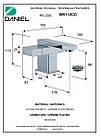 Смеситель для умывальника двухвентильный квадратный DANIEL W5112CR, фото 2