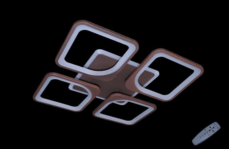 Люстра светодиодная с диммируеммым пультом. Площадь освещения 10-15 кв.м5543-4 CF Dimmer