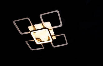 Люстра светодиодная с диммируеммым пультом. Площадь освещения 15-20 кв.м5543-4+1 BK Dimmer, фото 3