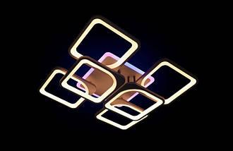 Светодиодная припотолочная люстра с диммером. Площадь освещения 15-20 кв.м5543/4+2 CF LED, фото 2