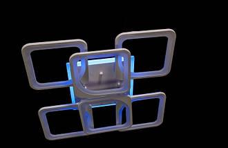 Светодиодная припотолочная люстра с диммером. Площадь освещения 15-20 кв.м5543/4+2 LED, фото 2