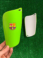 Щитки для футбола  Барселона Салатовые 1094