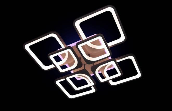 Светодиодная припотолочная люстра с диммером. Площадь освещения 15-20 кв.м5543/4+4 CF LED, фото 2