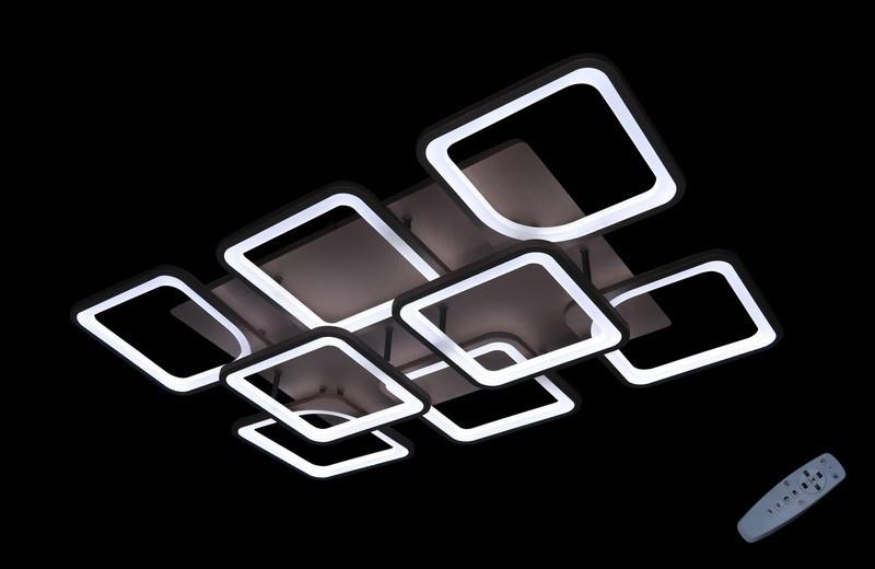 Светодиодная припотолочная люстра с диммером. Площадь освещения 18-25 кв.м5543/6+2 CF Dimmer