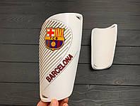Щитки для футбола  Барселона  белые 1086