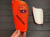 Щитки для футбола  Барселона оранжевые 1087